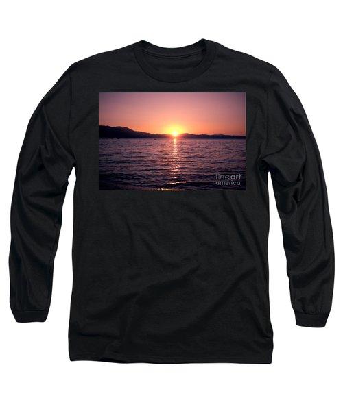 Lake Sunset 8pm Long Sleeve T-Shirt