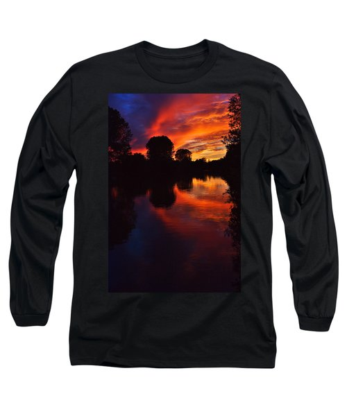 Lake Sunset Reflections Long Sleeve T-Shirt