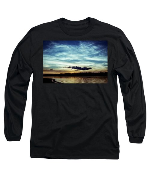 Lake Sunset Long Sleeve T-Shirt by Scott Meyer