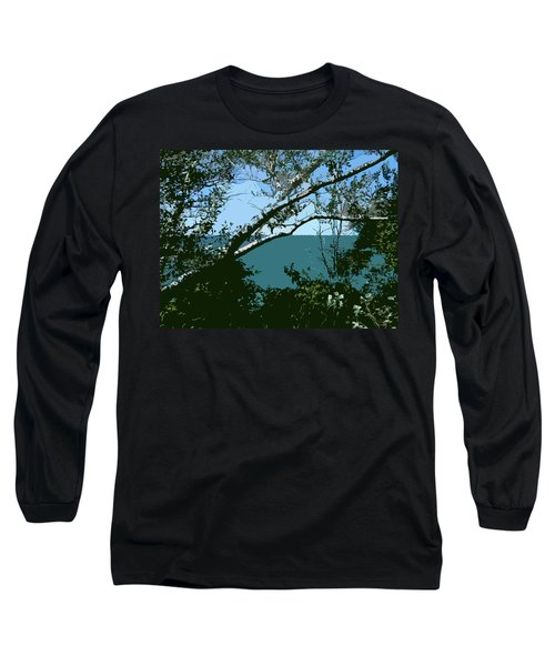 Lake Through The Trees Long Sleeve T-Shirt
