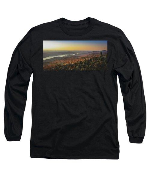 Lake Tremblant At Sunset Long Sleeve T-Shirt