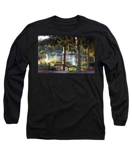 Beverly Lake View In Fall Long Sleeve T-Shirt