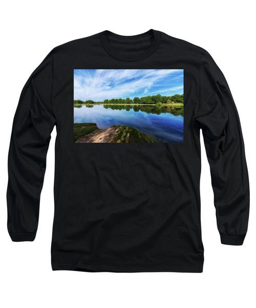 Long Sleeve T-Shirt featuring the photograph Lake View by Tom Mc Nemar