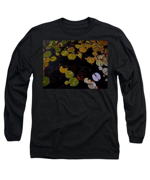 Long Sleeve T-Shirt featuring the painting Lake Washington Lilypad 8 by Thu Nguyen