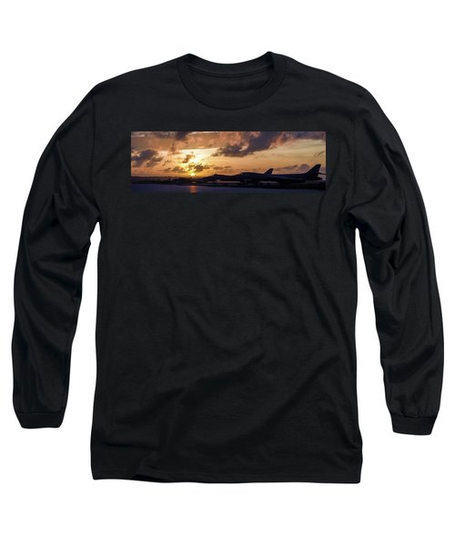 Long Sleeve T-Shirt featuring the photograph Lancer Flightline by Peter Chilelli