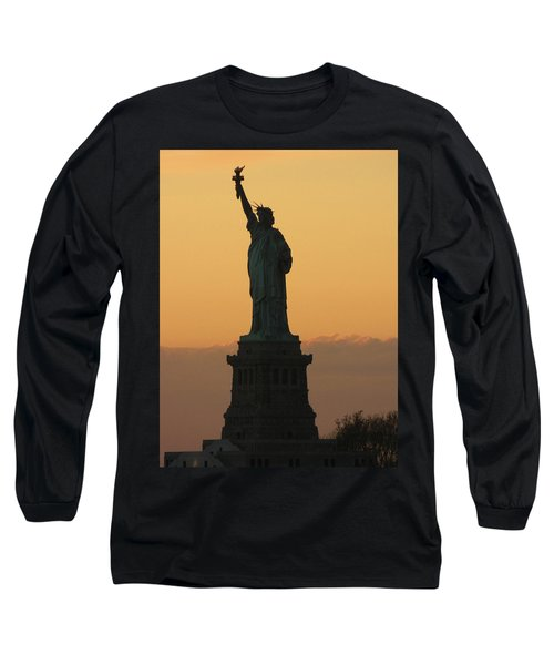 Long Sleeve T-Shirt featuring the photograph Land Of The Free And The Brave by Emmy Marie Vickers