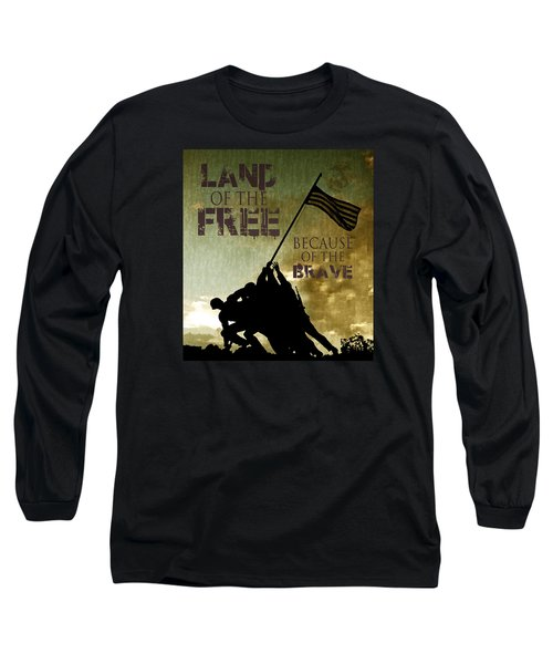 Long Sleeve T-Shirt featuring the digital art Land Of The Free by Dawn Romine