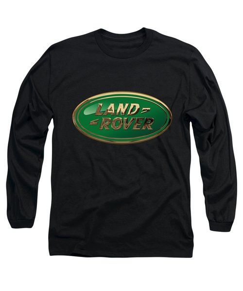 Land Rover - 3d Badge On Black Long Sleeve T-Shirt by Serge Averbukh