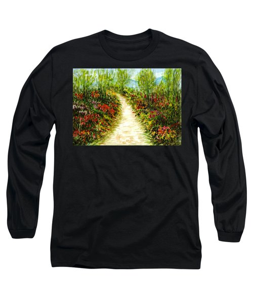 Long Sleeve T-Shirt featuring the painting Landscape by Harsh Malik