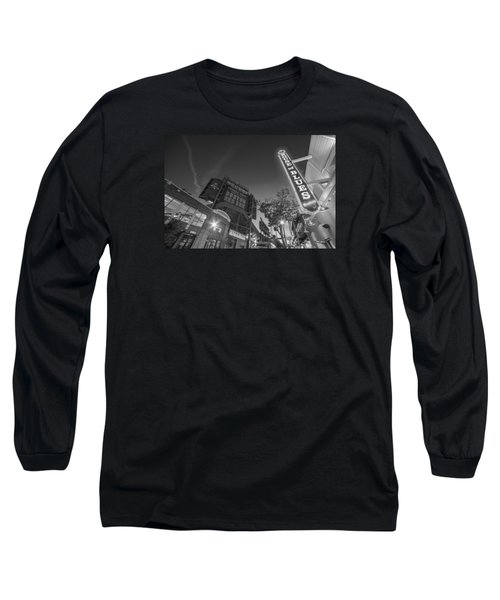 Lansdowne Street Fenway Park House Of Blues Boston Ma Black And White Long Sleeve T-Shirt