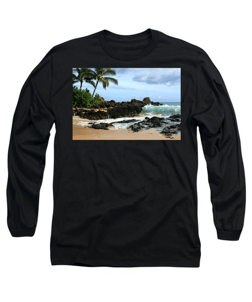 Lapiz Lazuli Stone Aloha Paako Aviaka Long Sleeve T-Shirt by Sharon Mau