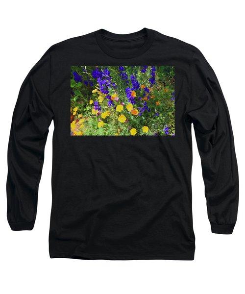 Larkspur And Primrose Garden Long Sleeve T-Shirt