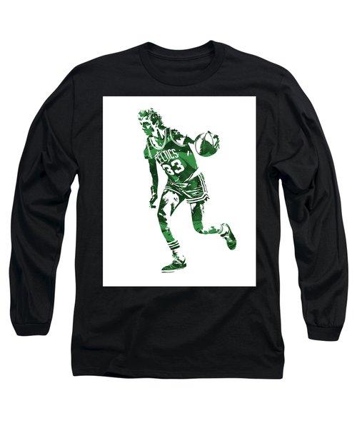 Larry Bird Boston Celtics Pixel Art 10 Long Sleeve T-Shirt