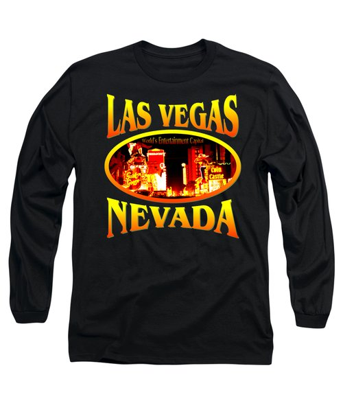 Las Vegas Nevada - Tshirt Design Long Sleeve T-Shirt
