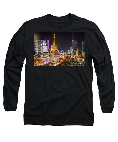 Las Vegas Strip Paris Long Sleeve T-Shirt