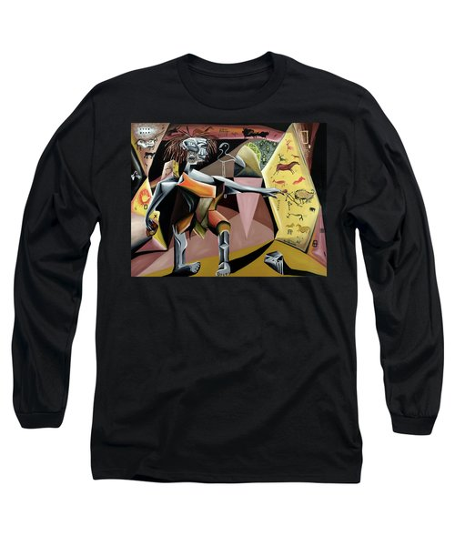 Long Sleeve T-Shirt featuring the painting Lascaux by Ryan Demaree