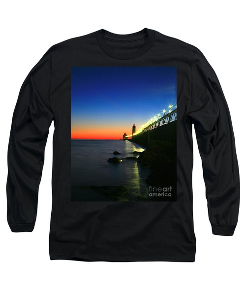 Last Light Grand Haven Michigan Long Sleeve T-Shirt