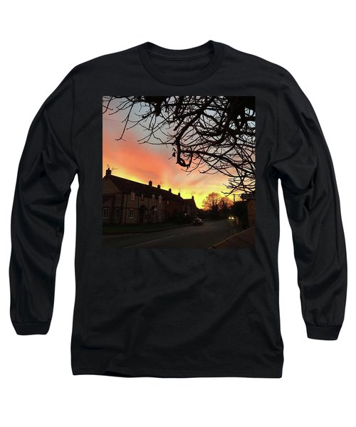 Last Night's Sunset From Our Cottage Long Sleeve T-Shirt by John Edwards