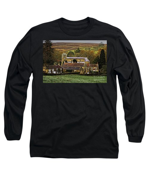 Lastingham Church And Village Yorkshire Long Sleeve T-Shirt