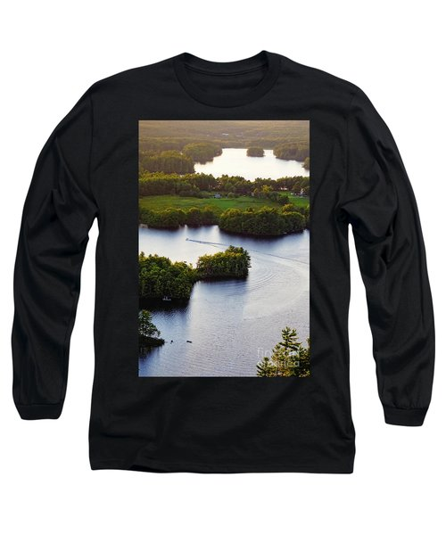 Late Afternoon On Lake Megunticook, Camden, Maine -43988 Long Sleeve T-Shirt