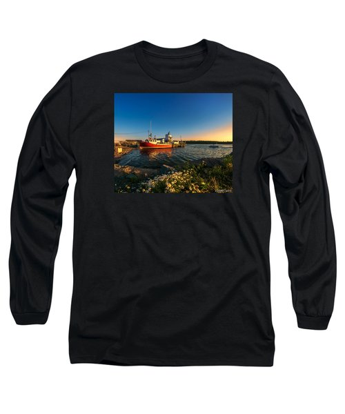 Late In The Day At Fisherman's Cove  Long Sleeve T-Shirt by Ken Morris