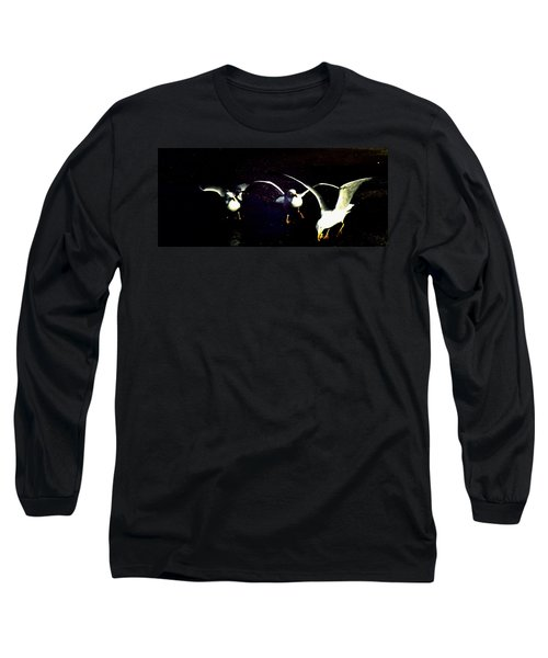 Long Sleeve T-Shirt featuring the photograph Late Night Snack by Mike Breau