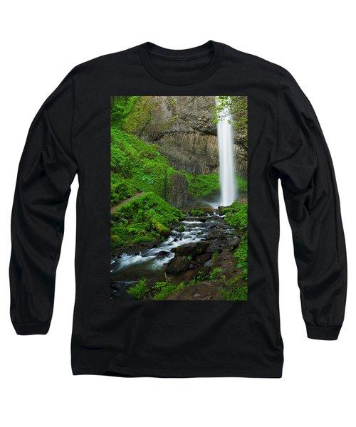 Latourell Falls Oregon Long Sleeve T-Shirt