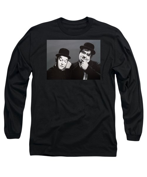 Laurel And Hardy Long Sleeve T-Shirt by Paul Meijering