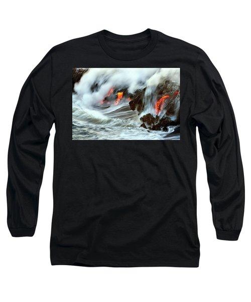 Lava And Ocean Long Sleeve T-Shirt
