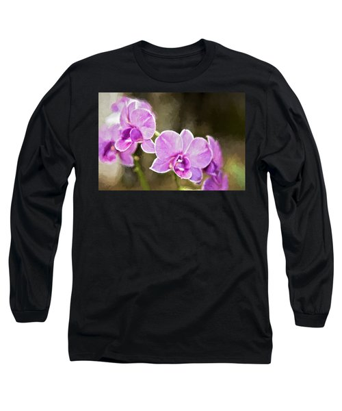 Long Sleeve T-Shirt featuring the photograph Lavendar Orchids by Lana Trussell