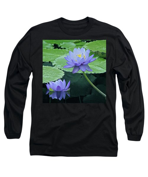 Long Sleeve T-Shirt featuring the photograph Lavender Enchantment by Byron Varvarigos