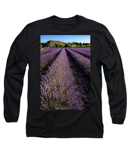 Lavender Field Provence France Long Sleeve T-Shirt
