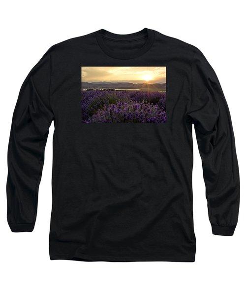 Lavender Glow Long Sleeve T-Shirt by Chad Dutson