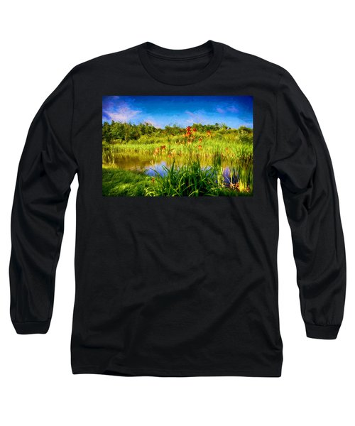 Lazy Summer Long Sleeve T-Shirt by Tricia Marchlik