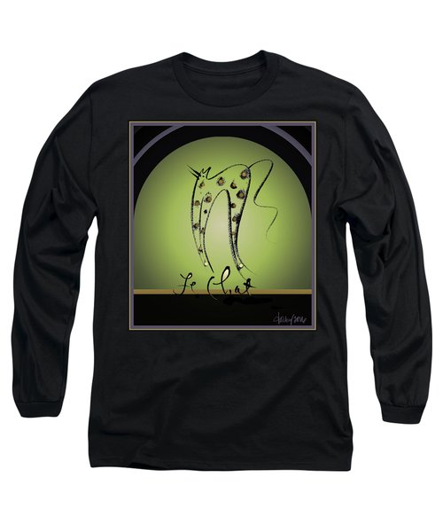 Le Chat - Green And Gold Long Sleeve T-Shirt