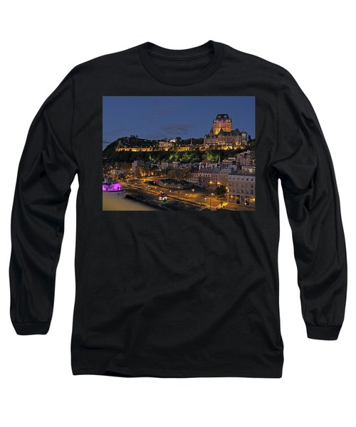 Le Chateau Frontenac  Long Sleeve T-Shirt