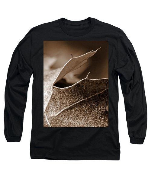 Leaf Study In Sepia II Long Sleeve T-Shirt