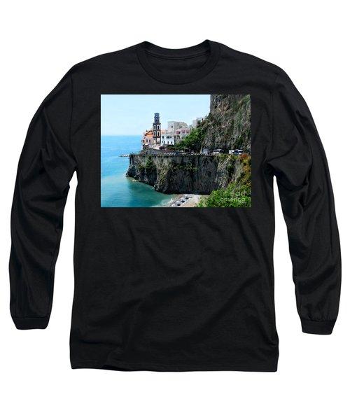 Leaving Atrani  Italy Long Sleeve T-Shirt