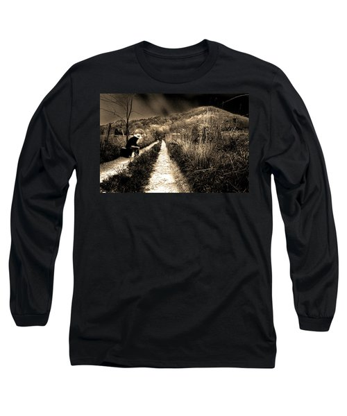 Long Sleeve T-Shirt featuring the photograph Leaving This Town by Gray  Artus