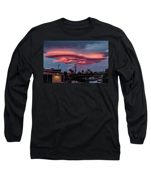 Long Sleeve T-Shirt featuring the photograph Lenticular Cloud Las Vegas by Michael Rogers