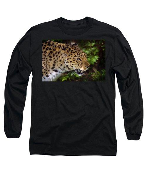 Long Sleeve T-Shirt featuring the photograph Leopard by Steve Stuller