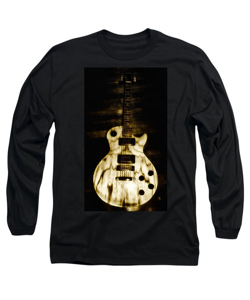 Long Sleeve T-Shirt featuring the photograph Les Paul Guitar by Bill Cannon