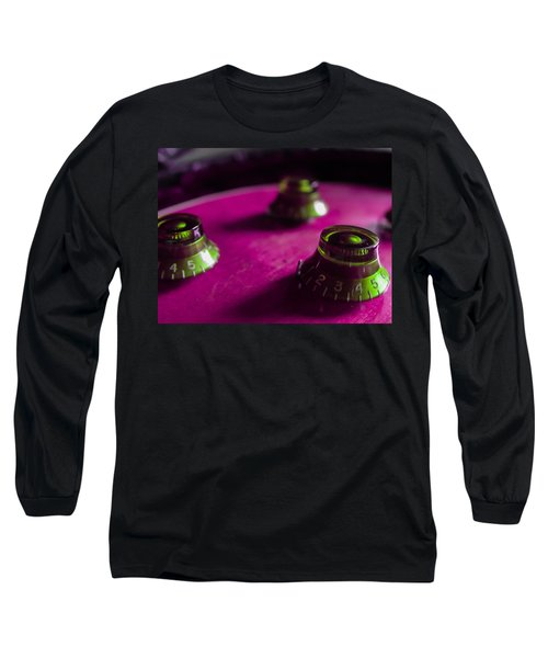 Guitar Controls Series Pink And Green Long Sleeve T-Shirt