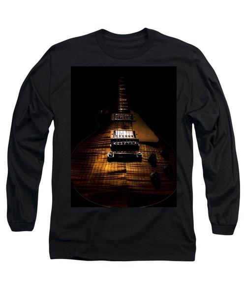 Long Sleeve T-Shirt featuring the digital art Burst Top Guitar Spotlight Series by Guitar Wacky