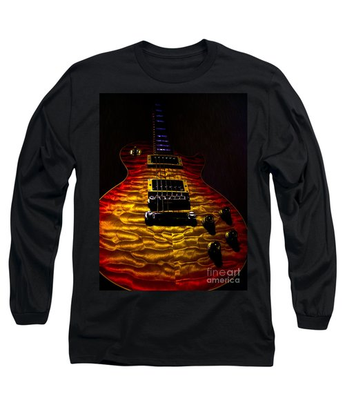 Guitar Custom Quilt Top Spotlight Series Long Sleeve T-Shirt