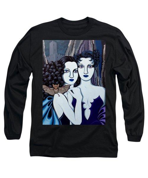 Les Vamperes Bleu Long Sleeve T-Shirt by Tara Hutton