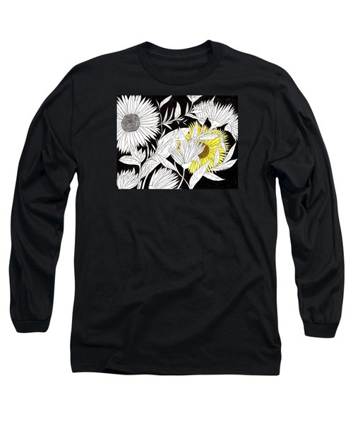 Long Sleeve T-Shirt featuring the drawing Let Your Light Shine by Lou Belcher