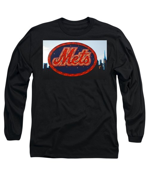Lets Go Mets Long Sleeve T-Shirt by Richard Bryce and Family