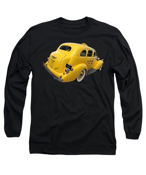 Let's Ride - Studebaker Yellow Cab Long Sleeve T-Shirt by Gill Billington
