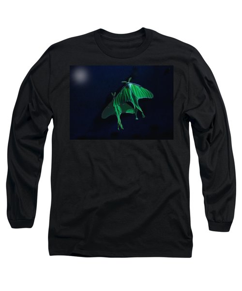 Long Sleeve T-Shirt featuring the photograph Let's Swim To The Moon by Susan Capuano